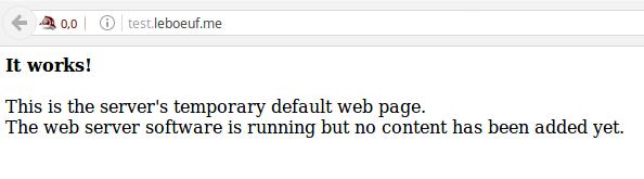 L'index.html par défaut