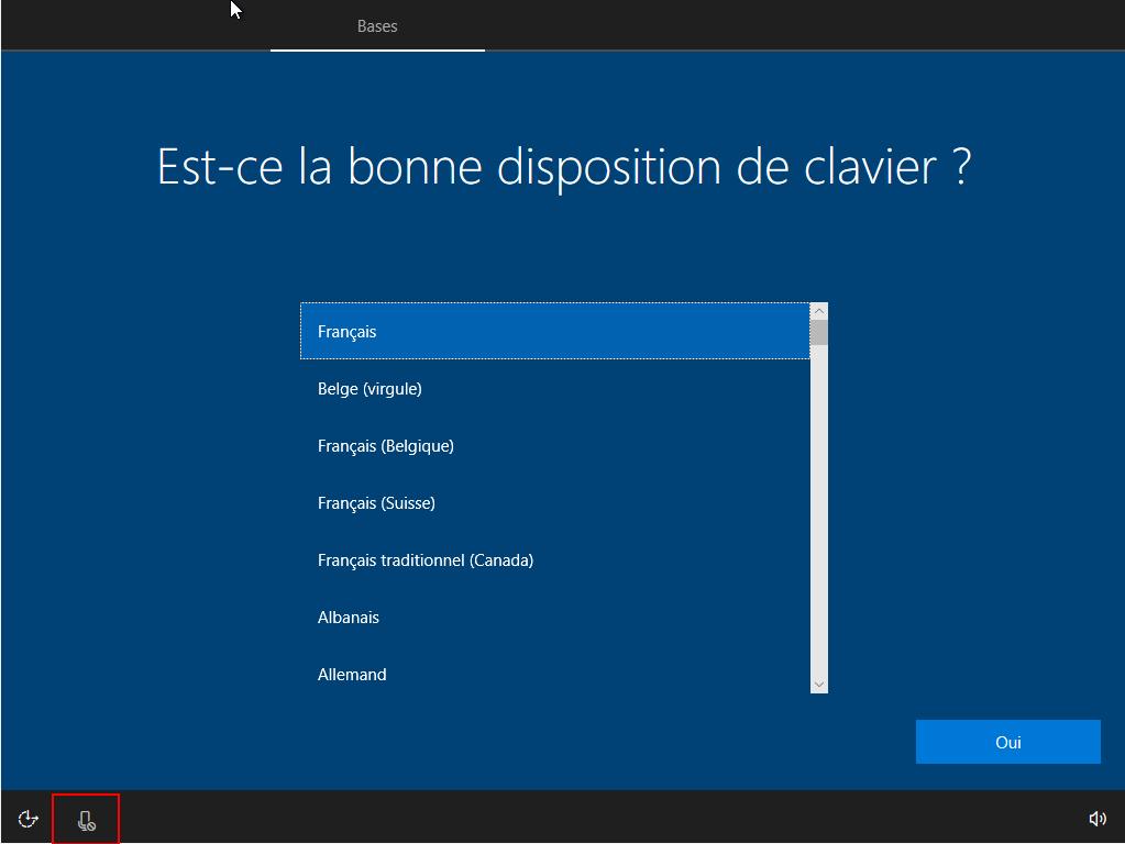 On désactive Cortana dans l'installeur